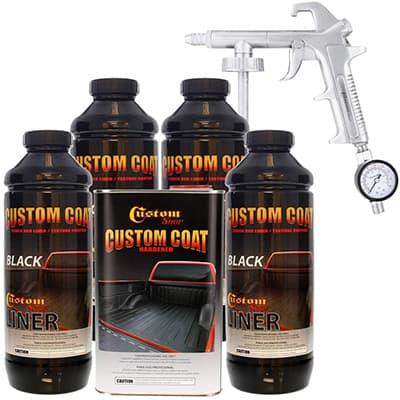 best custom coat black 4 liter urethane diy bedliner
